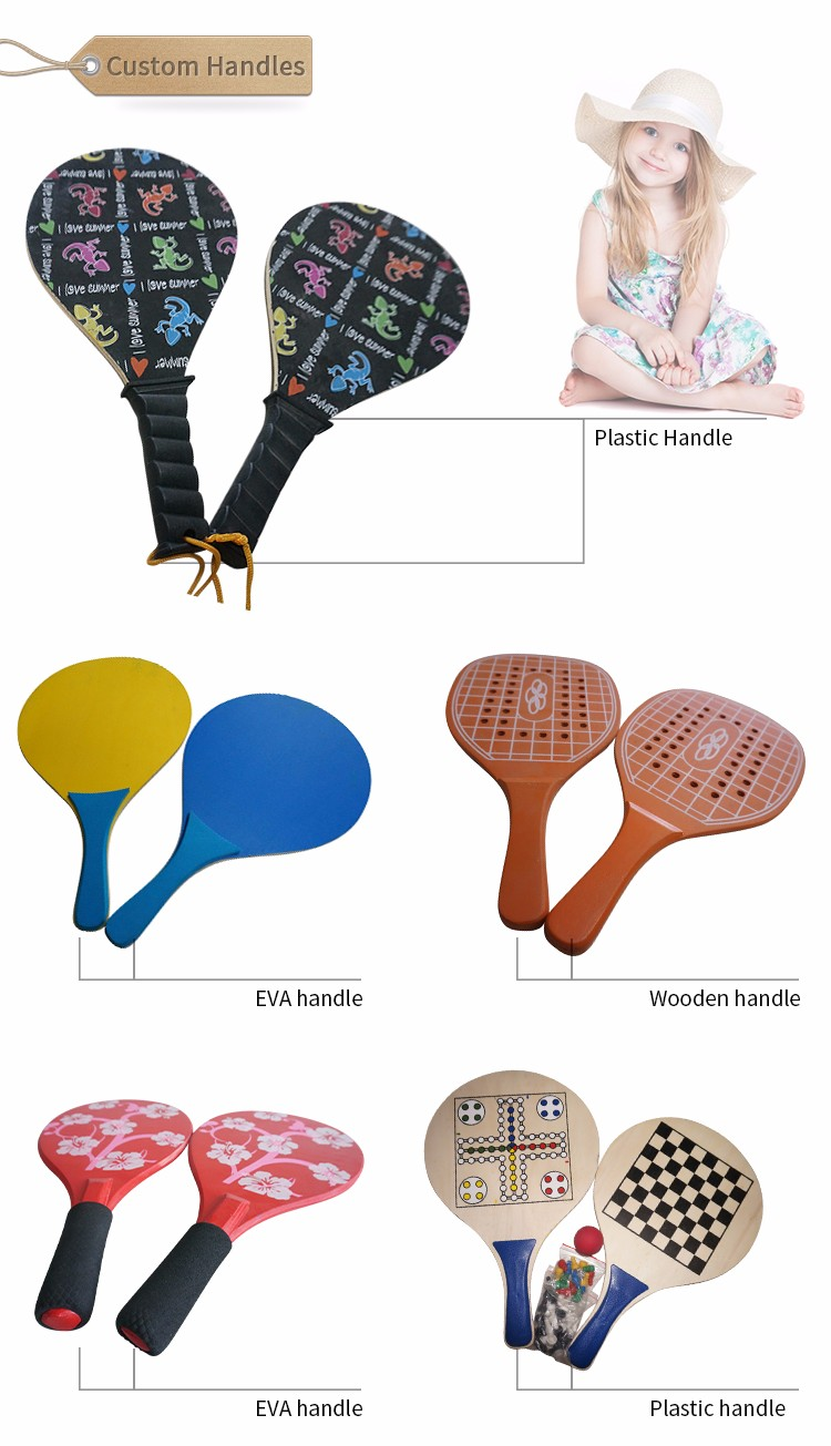 Tennis Paddle Gedrukt Strand Bal Game Racket Set Strand Tennisracket
