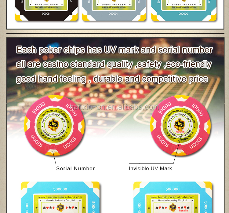 Colorful custom casino RFID square poker chips plaques Hanxin