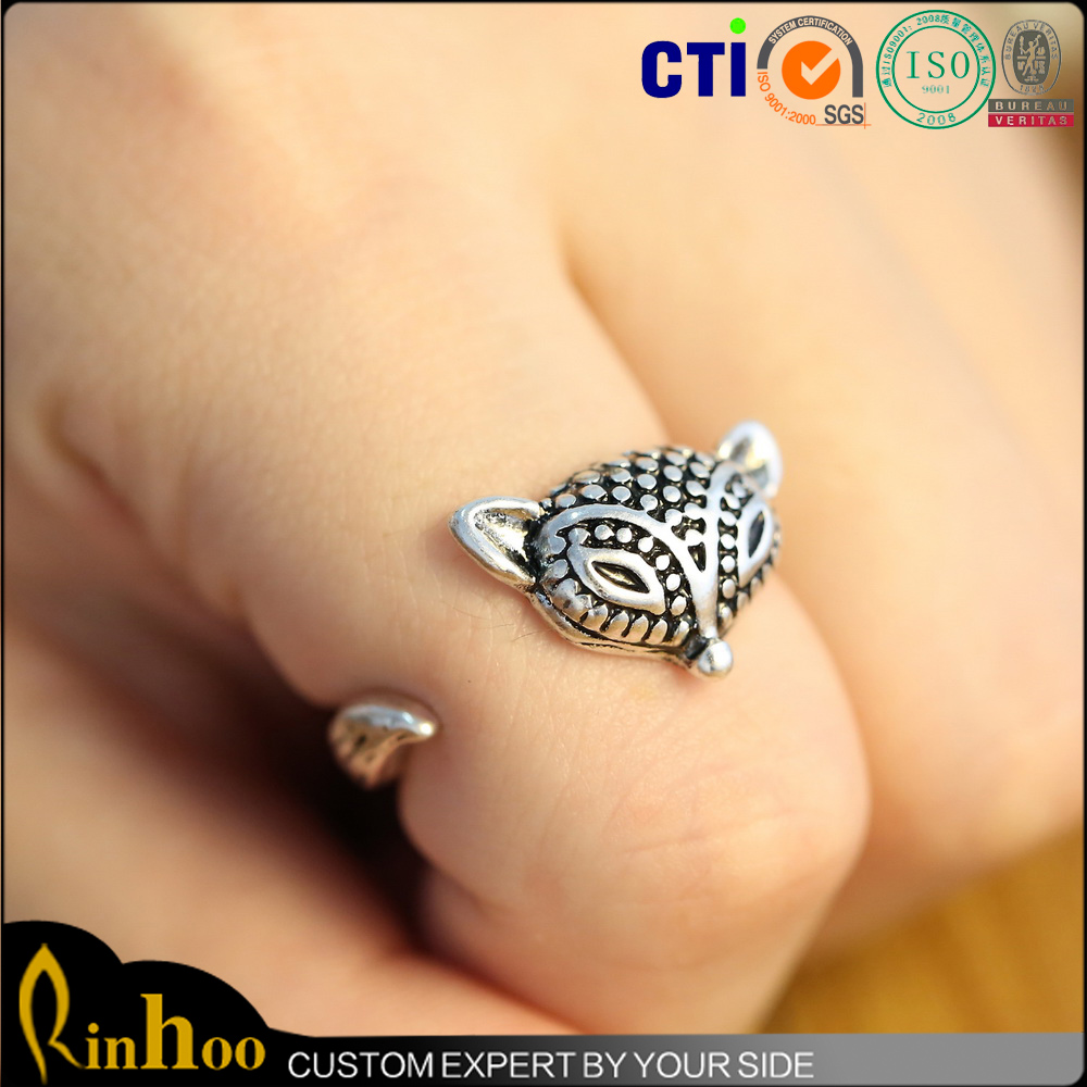 Hot Sale Fox Charm Finger Ring Fashion Party Anniversary Fox Ring With Cheap Price
