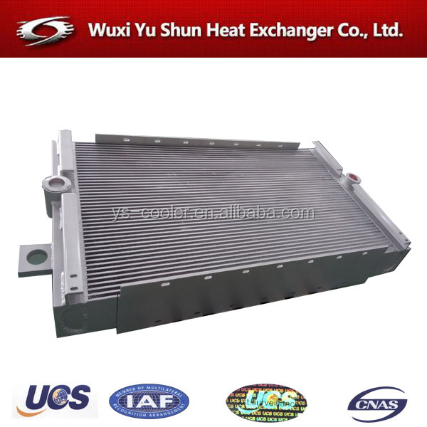 aluminum brazed compressor air cooled oil cooler