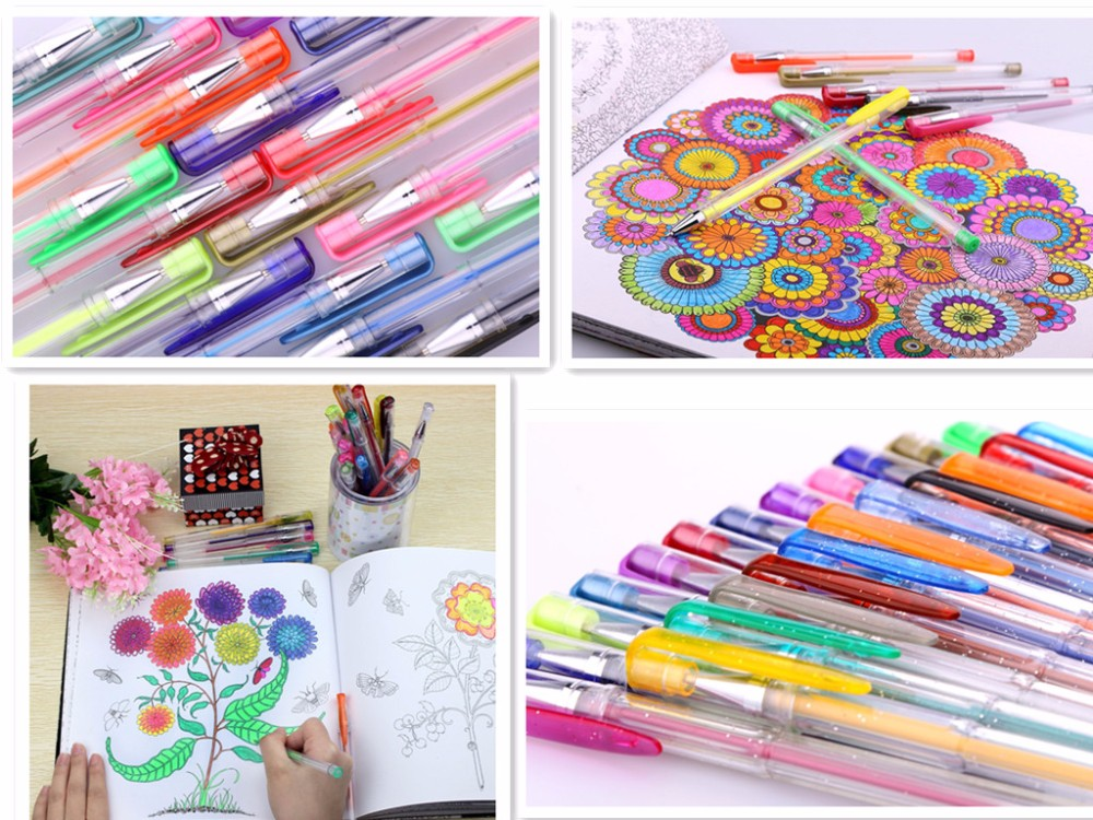 بهترین قلم ژل رنگی فروشنده رنگ بسته بندی 100/60/48/24
