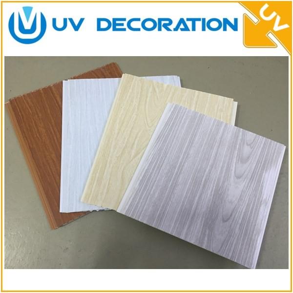 20 cm ancho decoración interior diseño de madera techo panel de pvc ...