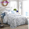 Luxury hotel 4 pcs white queen size embroidered bedding set 100% cotton