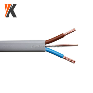 PVC insulated 1.5mm 2.5mm 3 core 2+E solid copper electrical wire flat twin and earth cable