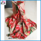 Women's fashion tulip print silk made in turkey scarf