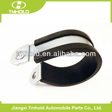 stainless steel fixing pipe p tube rubber coated clamping clip