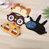 2018 Brazil New Design Cute Funny Animals Pattern High Quality Novelty Cotton 3d Sleep Eye Mask With Ear Plugs