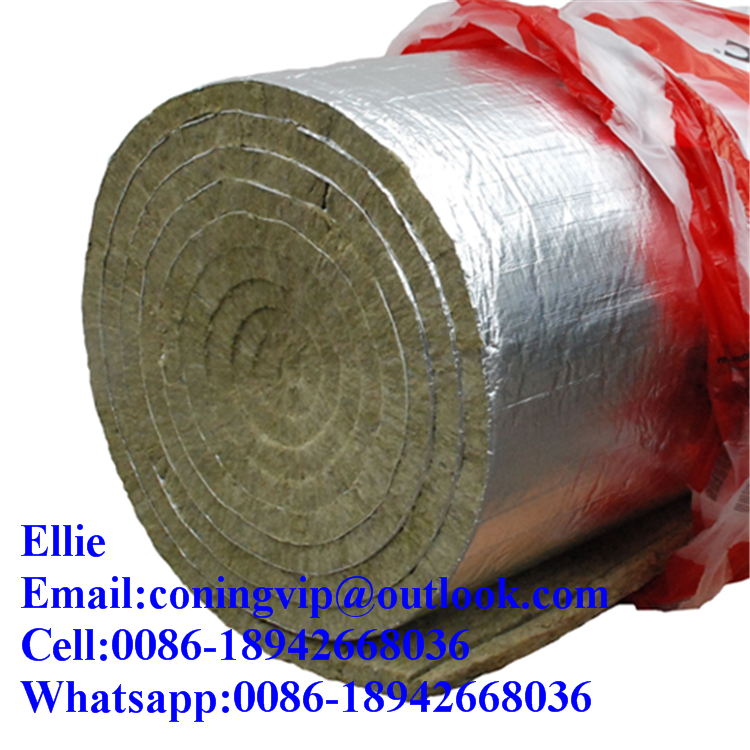 Rockwool Insulation Roll With Aluminium Foil On One Face