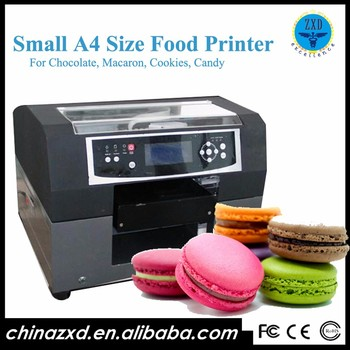 A4 flatbed printer inkjet food printer used for cake bread/ coffee /chocolate and so on