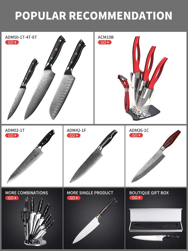Asiakey titanizing lưỡi bếp ULU knife với gỗ xử lý