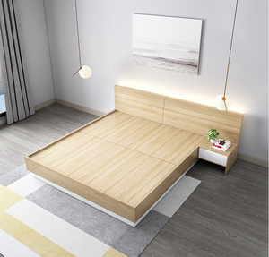Superbe China Supply Modern Simple Designs Wooden Bed Frame Comfortable Bedroom  Double Bed Storage Bed