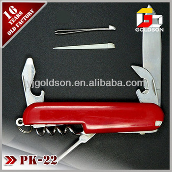 different types folding plastic knife with 5 accessories