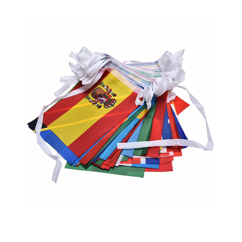 Internazionale String Hanging Bunting Pennant Banner Bandiere Del Mondo
