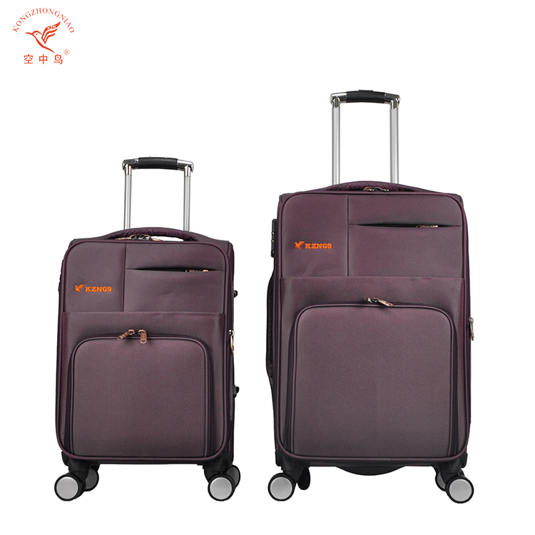 KZN brand factory provide 4 pcs nylon cheap trolley travel bag suitcases set online shopping