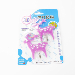 2 pcs Cute deer shape self adhesive wall door hook