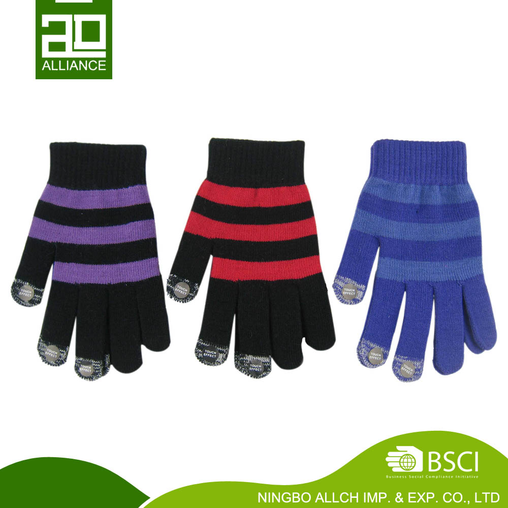 Acrylic Customized Softtextile Knitted Wool for Smart Touch Screen Gloves