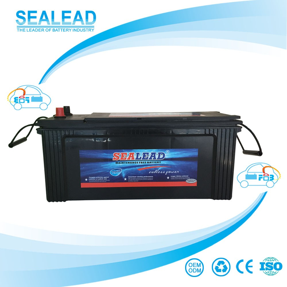 AS standard N120 free maintenance heavy duty lead acid truck car start 120AH battery
