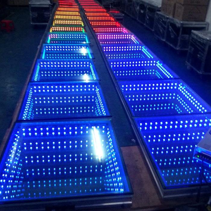 3d Floor Panels : Cheap disco wedding d infinity mirror led dance floor