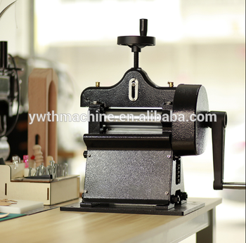 German Design Manual Leather Splitter Hand Cranked Vegetable Tanned Leather Belt Skiver Thinning Machine