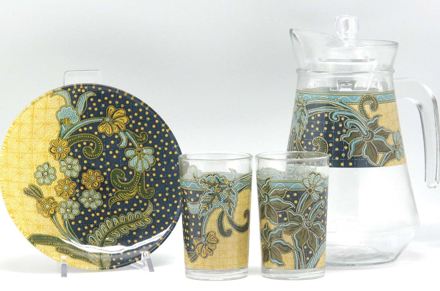 7pcs Water Set - Glass Batik Collection