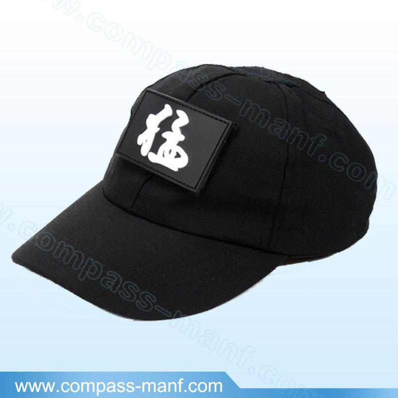 fashion rubber patch solid color military baseball hats