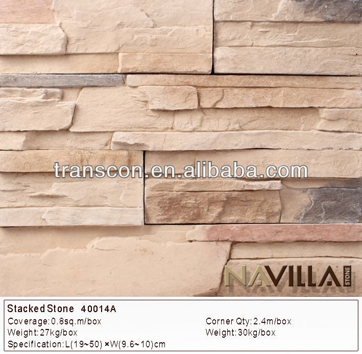 Revestimiento de pared de piedra artificial decorativa for Piedra artificial decorativa