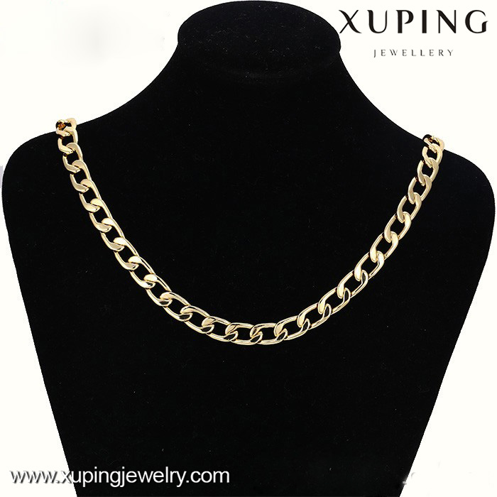 42564-xuping fashion men jewelry,14k gold heavy simple designs mens chains