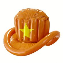 Inflatable Cowboy Hat Adult Fancy Party Dress Accessory Inflated Toys