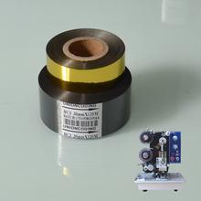 Black 30mm width 100M length batch code stamp foil for packaging label