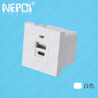 45*45mm general purpose 2 outlets usb wall charger