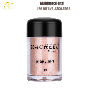 Dong ling cosmetic makeup high pigment eyeshadow face highlighter glow kit