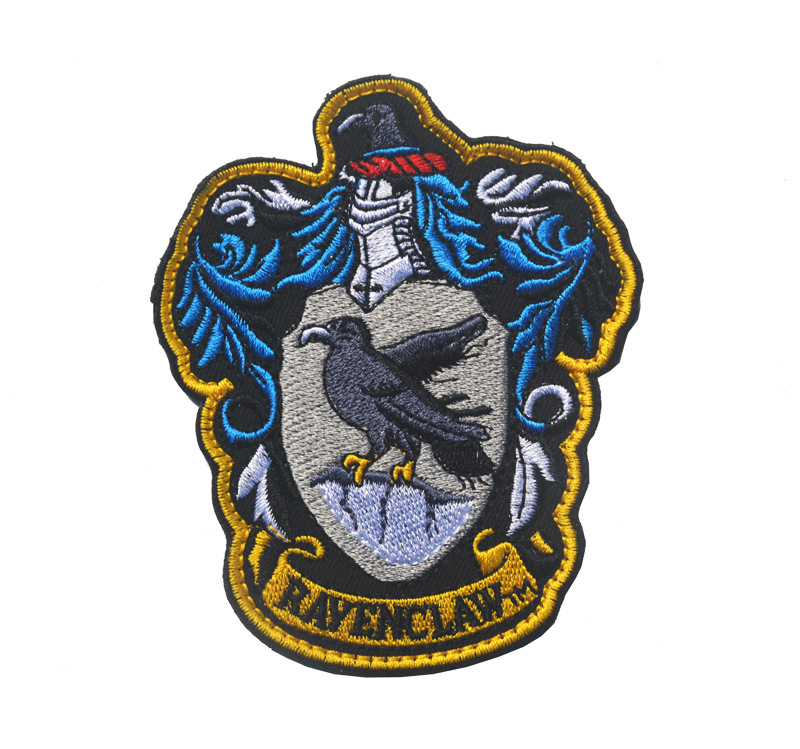 embroidery harry potter patch,embroidered harry potter badges for denim jeans,appliques