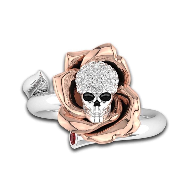 Fashion Ring,UMFun Women Creative Skull Heads Diamond Ring Jewelry Wedding Valentine Gift