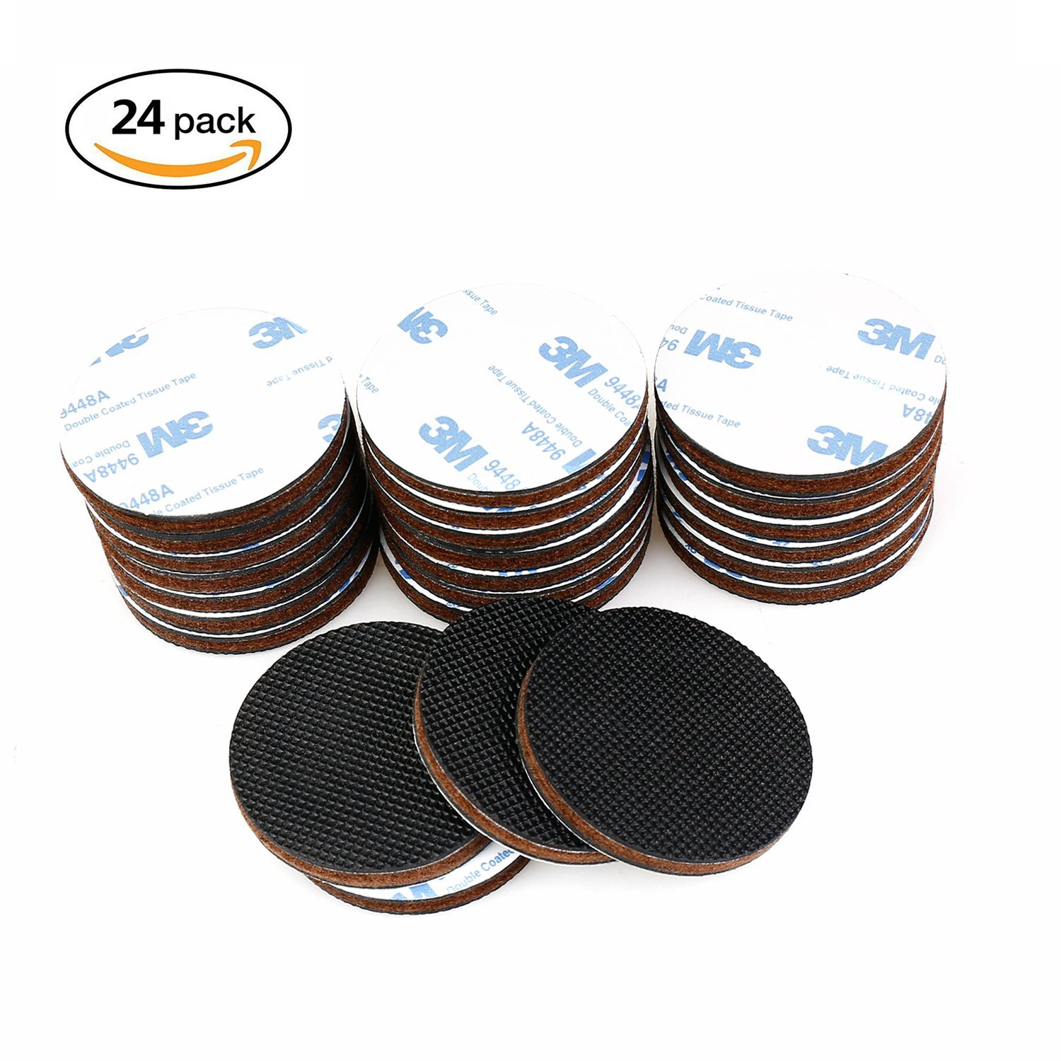 "24PCS Felt Furniture Pads Non Slip for Hardwood Floor and Furniture Protectors 2"" ROUND"