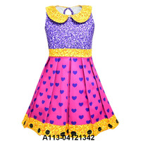 kids costumes party dress sleeve less children costume for kids