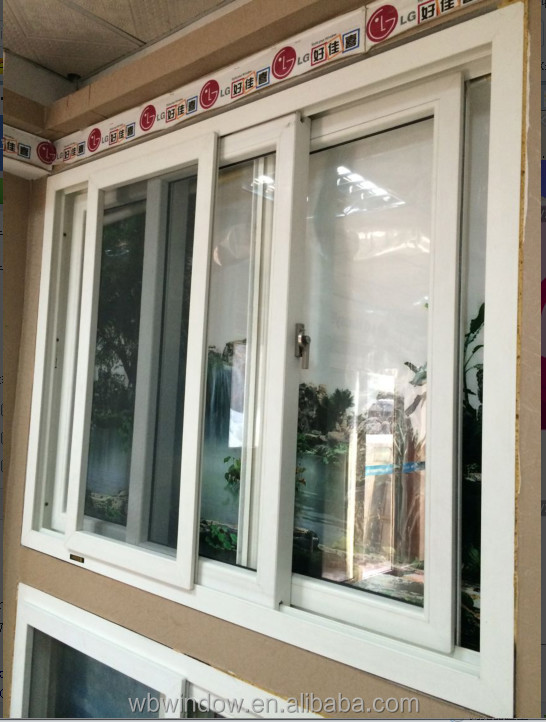 Modern House Design Pvc Sliding Windows With Flying Screen