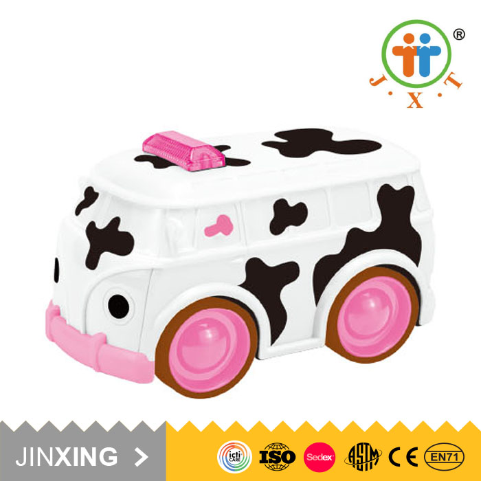 trending hot products lovely cow cartoon toys plastic rc car speed with light and sound