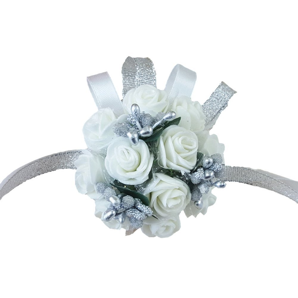Cheap corsage silver find corsage silver deals on line at alibaba get quotations wildgirl wedding bridesmaid bride prom bridal wrist corsage hand flower bracelet white flower silver pearl mightylinksfo