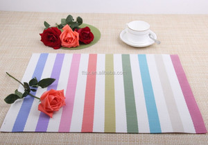New design pvc woven vinyl placemat and dining table mat for restaurant