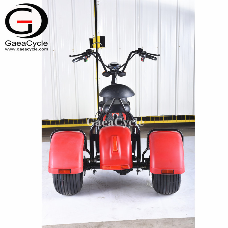 Gaea 3 wheel electric scooter citycoco 3 wheel fat tire motorcycle