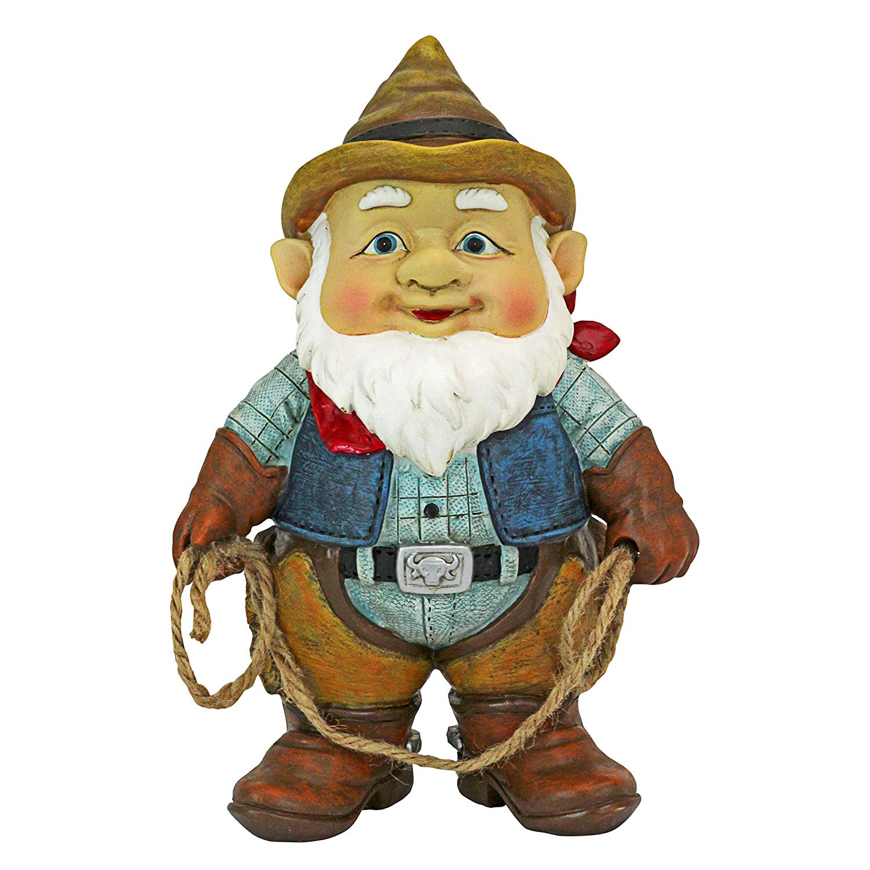 Design Toscano QL307232 Country Cowboy Klaus Garden Statue Gnome, One Size, Multi-Color