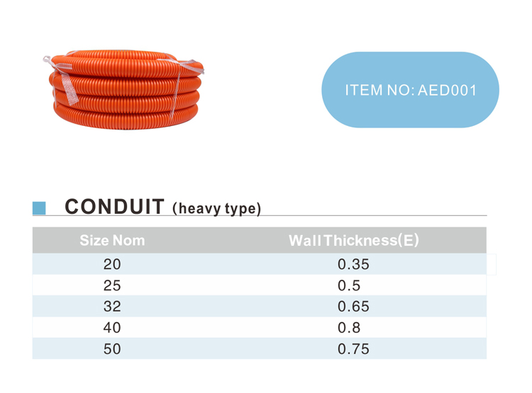 ERA AS/NZS2053  MIDDLE  TYPE  PVC CONDUIT PIPES