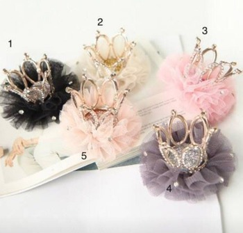 2017 Korean Christmas Children Sequined Crown Hairpins Cute Baby Girl Birthday Party Hair Clips Kids