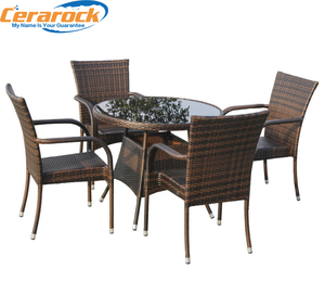 Outdoor Royal Style Classic Rattan Round Garden Furniture