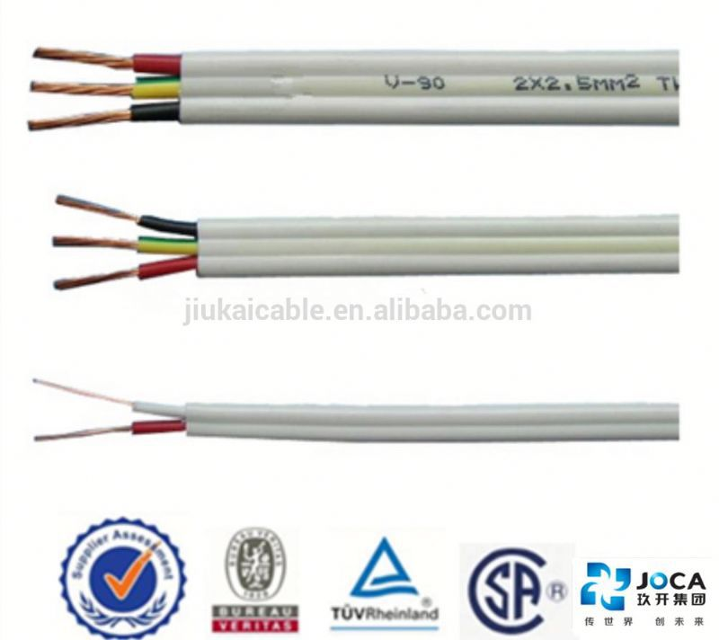 Factory Supply Flexible Flat Cable 3 Core Flat Pvc Electric Wire ...