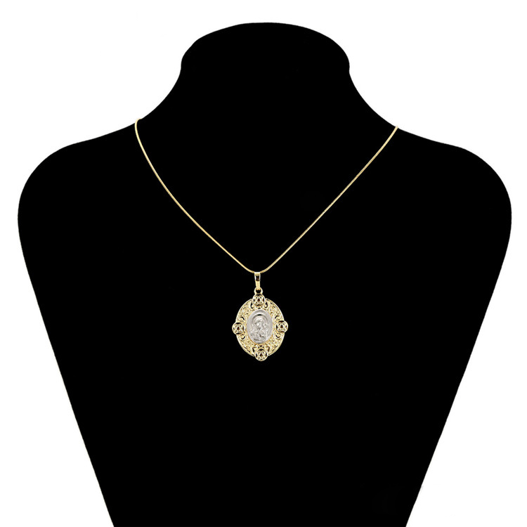 34391 xuping modern flower Pattern pendant,gold plated pendant necklace