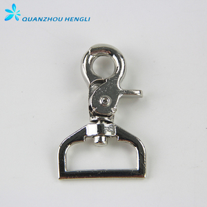 Metal D Ring Swivel Snap Hook Lobster Hook For Keychain Clip