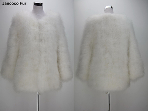 659550dc852 Ostrich Feather Fur Coat, Ostrich Feather Fur Coat Suppliers and  Manufacturers at Alibaba.com