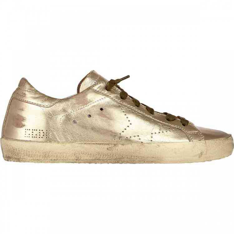 Gold Star Shoes White Color