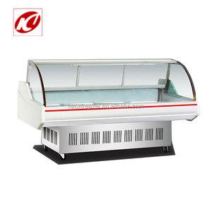 Double compressor Supermarket Fresh meat display refrigerator price